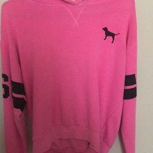 pink hoddie